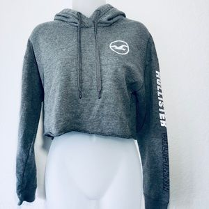 Hollister Women's Cropped Hoodie Size XS